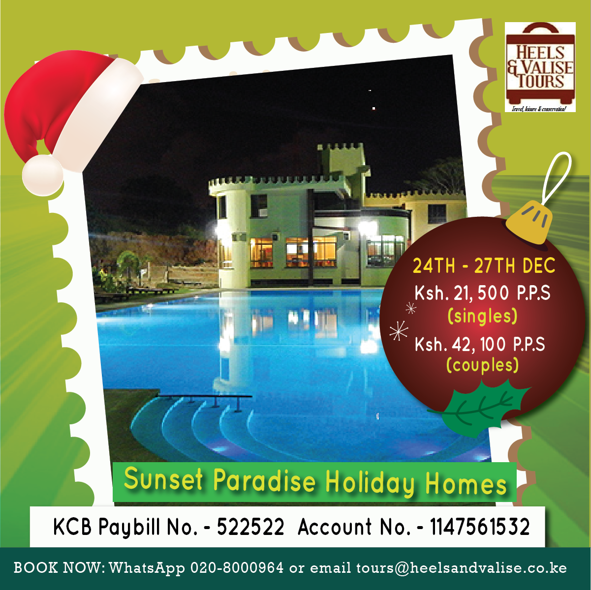 24th - 27th DEC Christmas Holiday at the Coast
